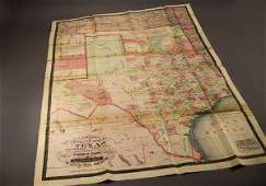 87: Cram's New County and Railroad Map of Texas...