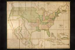 MELISH. Map of the United States. 1820