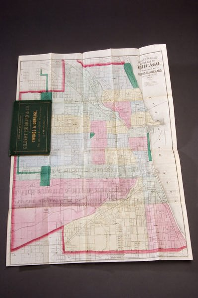 42: Blanchard, Rufus. Guide Map of Chicago.