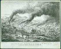 167 CA PICTORIAL LETTER SHEET Great SF Conflagration