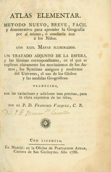 7: Atlas elementar, 1786