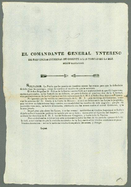 11: Bangs. El Comandante General Ynterino…