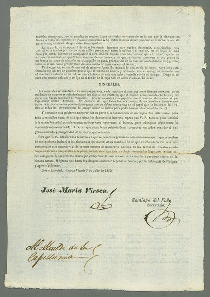 14: Bangs. Mexico. Circular letter (May 7, 1830)