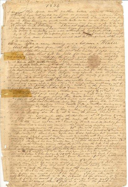 16: Bennet, Miles Squier. autograph journal