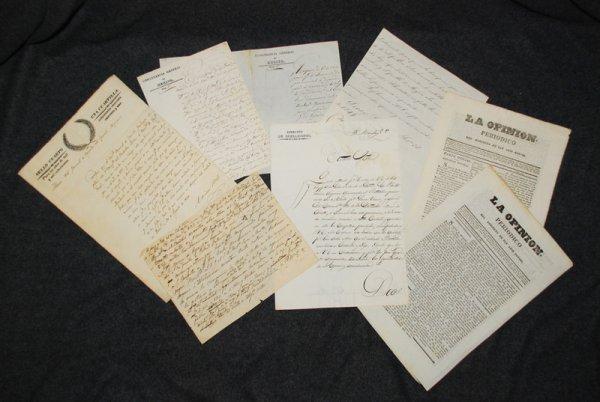 7: [ALAMO & TX REVOLUTION]. 6 ms & 2 newspapers