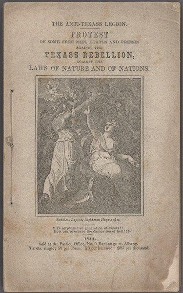 11: The Anti-Texass Legion. Albany, 1844.