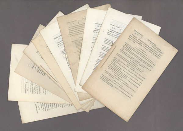 12: Collection of ten printed U.S. Army orders