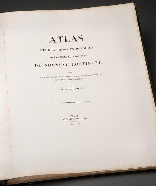 230: HUMBOLDT. Atlas géographique et physique....