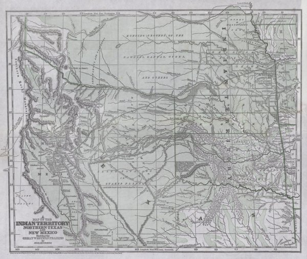302: GREGG, Josiah. A Map of the Indian Territory....