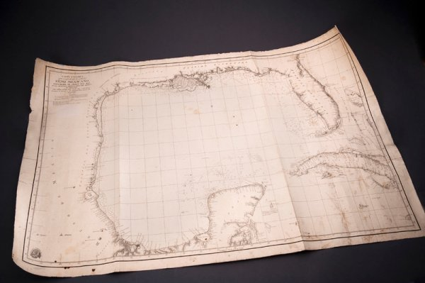 303: First Printed Map to Name Galveston
