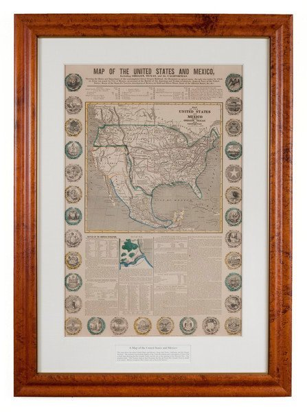 310: HAVEN & EMMERSON. Map of the U.S. and Mexico