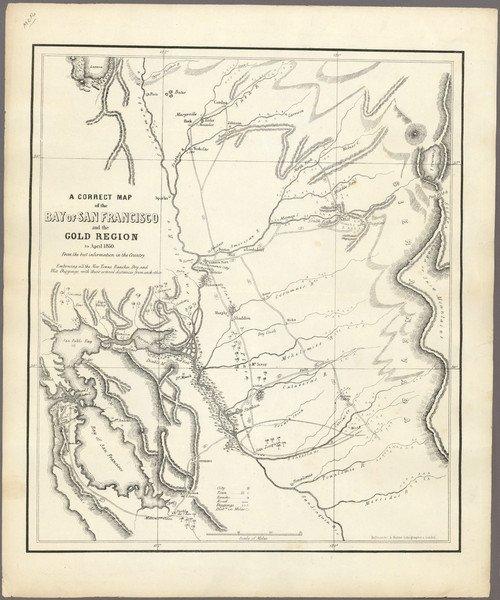 314: Very Rare California Gold Rush Map