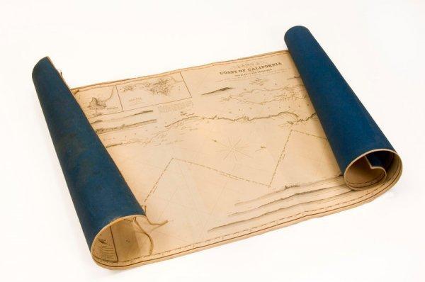 316: Blueback coasting chart of California—1849