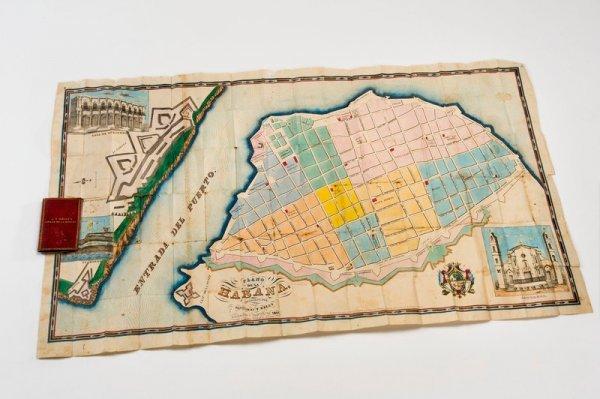 320: Remarkable U.S. Pocket Map of Havana