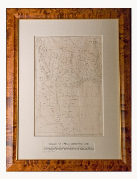 321: [MAP]. KEMBLE, W. Texas and Part of Mexico....