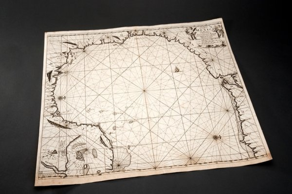 322: Baroque Sea Chart with Highly Unusual Orientation