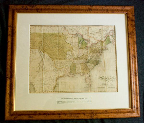 [MAP]. MELISH. United States of America.... 1821