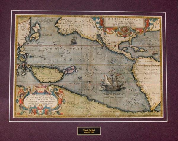 Map 347.347 Map Ortelius Abraham Maris Pacifici 1589
