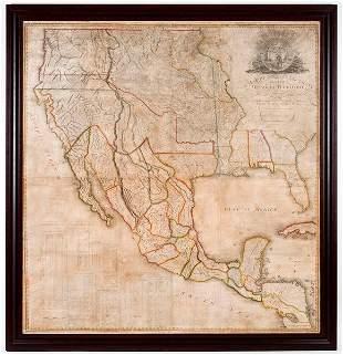 356: ROBINSON, John H. A Map of Mexico.... 1819