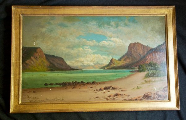 515: STUART, James Everett. 2 Oil Paintings on Canvas