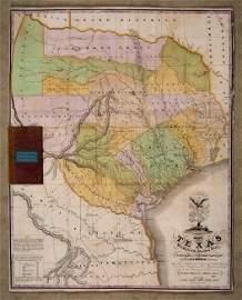 [MAP]. AUSTIN, Stephen F. Map of Texas.... 1836