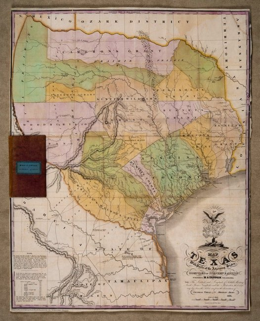 [MAP]. AUSTIN, Stephen F. Map of Texas.... 1836
