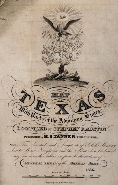 [MAP]. AUSTIN, Stephen F. Map of Texas.... 1836 - 2