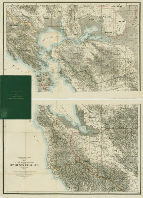 [MAP]. GEOLOGICAL SURVEY OF CA. San Francisco. 1873.