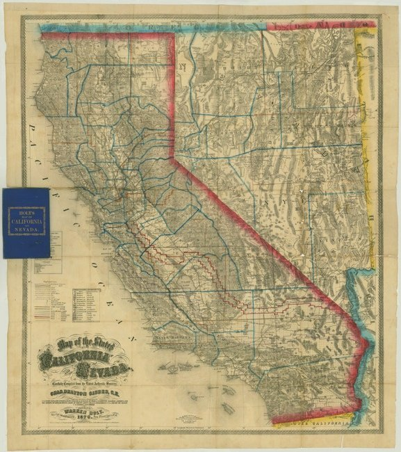 [MAP]. GIBBES & Holt. California and Nevada. 1876.