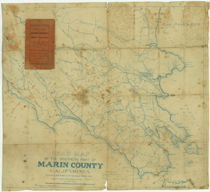 [MAP]. HANAK AND HARGENS. Marin County. 1903.