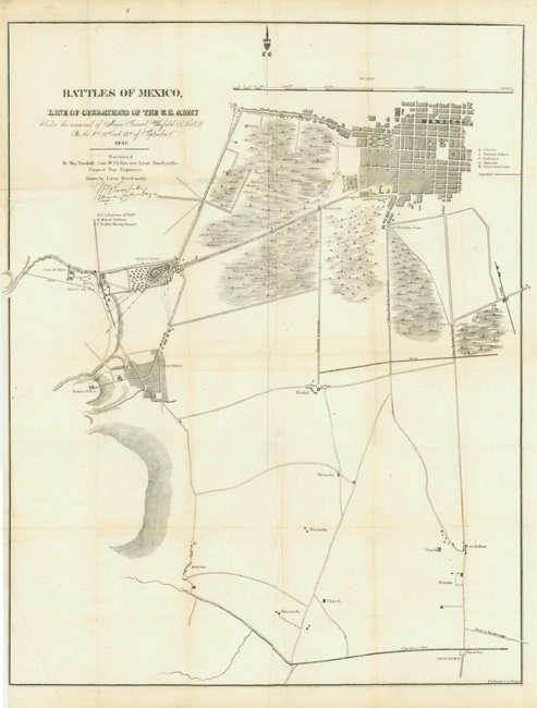 [MAP]. HARDCASTLE. Battles of Mexico. 1847.