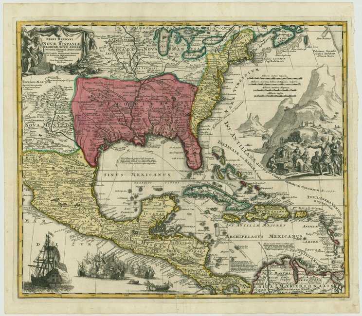 [MAP]. HOMANN. Regni Mexicani...[ca. 1712] First Issue