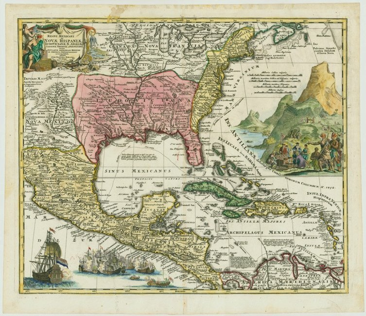 [MAP]. HOMANN. Regni Mexicani...[ca. 1716] Second Issue