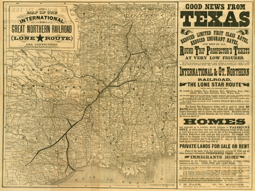 [MAP]. International and Great Northern RR.... [1877].