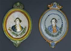 17044: Majolica Portrait Plates of Captain Cook