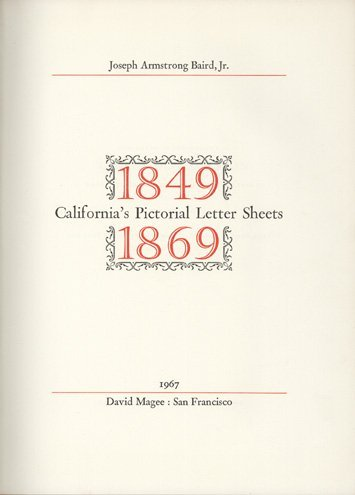 16003: BAIRD. California's Pictorial Letter Sheets