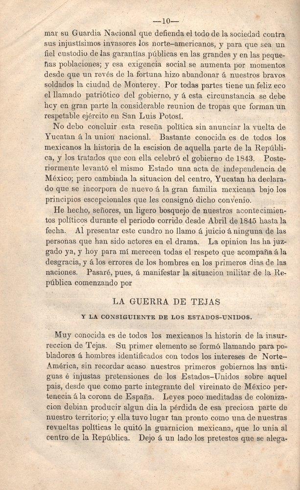 ALMONTE. Memoria del ministerio.... 1846 - 2