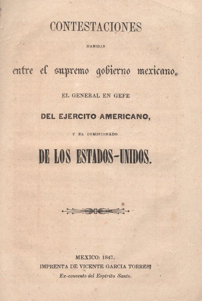 [BOUNDARY LINE]. Contestanciones habidas.... 1847 - 2