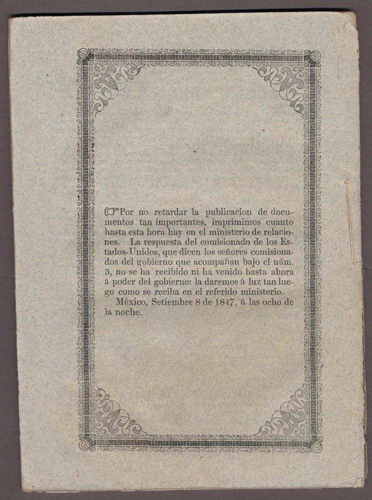 [BOUNDARY LINE]. Contestanciones habidas.... 1847 - 3
