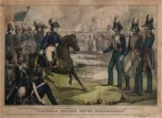 CURRIER. Santa Anna's Messengers.... 1847