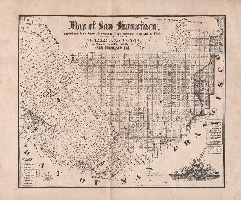 [CALIFORNIA]. WHEELER. Land Titles in SF.... 1852 - 2
