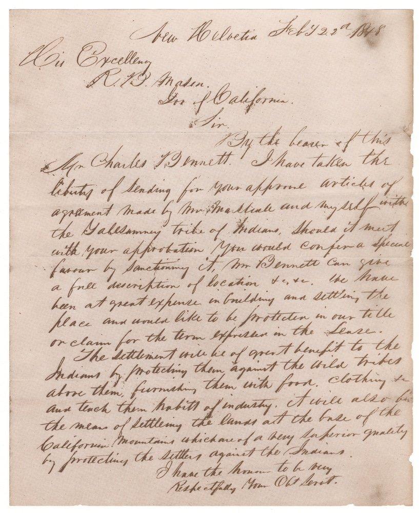 [CALIFORNIA]. WHEELER. Land Titles in SF.... 1852 - 4