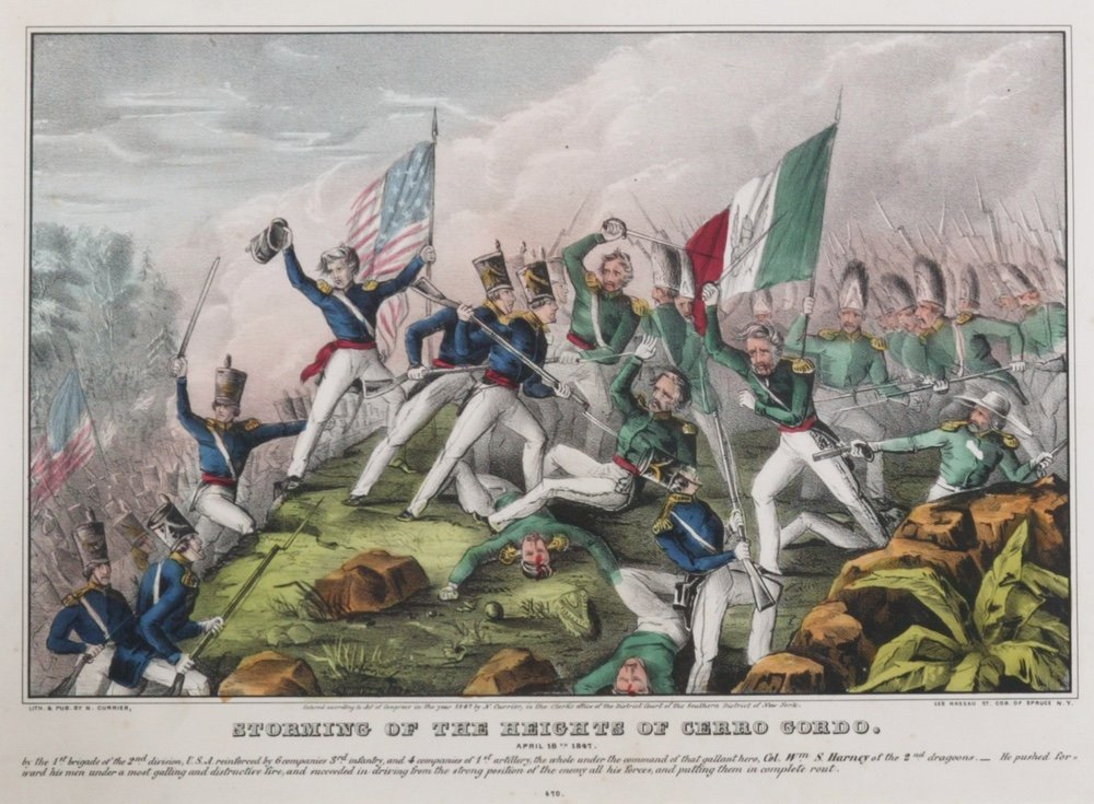 CURRIER. Storming of the Heights.... 1847