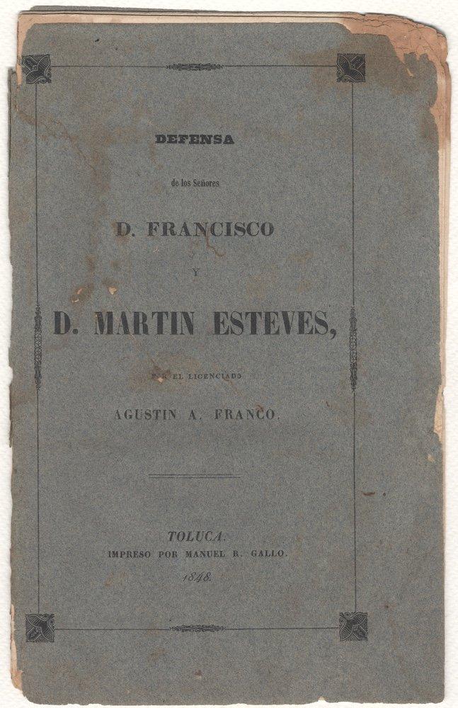 [COURT MARTIAL]. FRANCO. Alegato.... [1848]