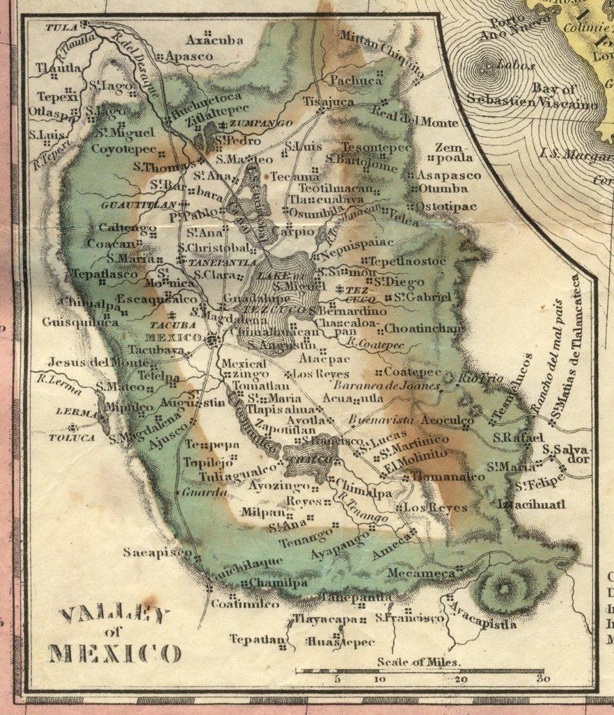 [MAP]. MITCHELL. Mexico & Guatemala. 1846 - 3