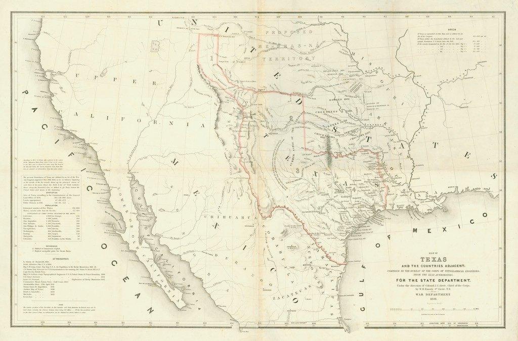 [MAP]. [TEXAS]. EMORY. Texas. 1844