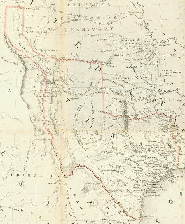 [MAP]. [TEXAS]. EMORY. Texas. 1844 - 2