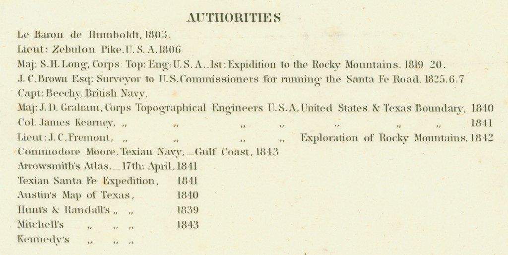 [MAP]. [TEXAS]. EMORY. Texas. 1844 - 4
