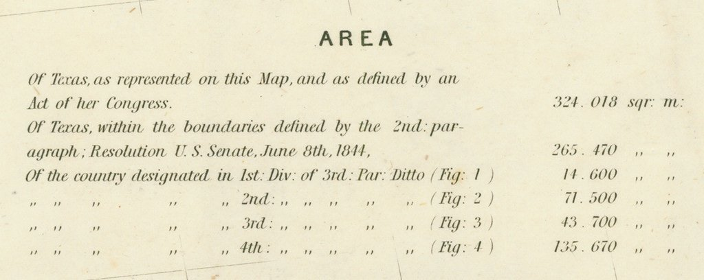 [MAP]. [TEXAS]. EMORY. Texas. 1844 - 6
