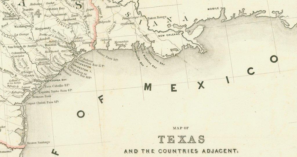 [MAP]. [TEXAS]. EMORY. Texas. 1844 - 7